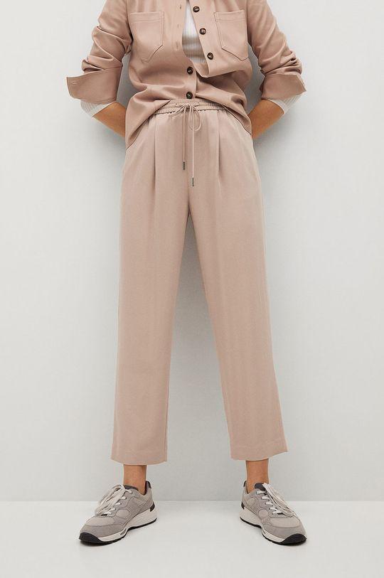 różowy Mango - Spodnie FLUIDO Damski