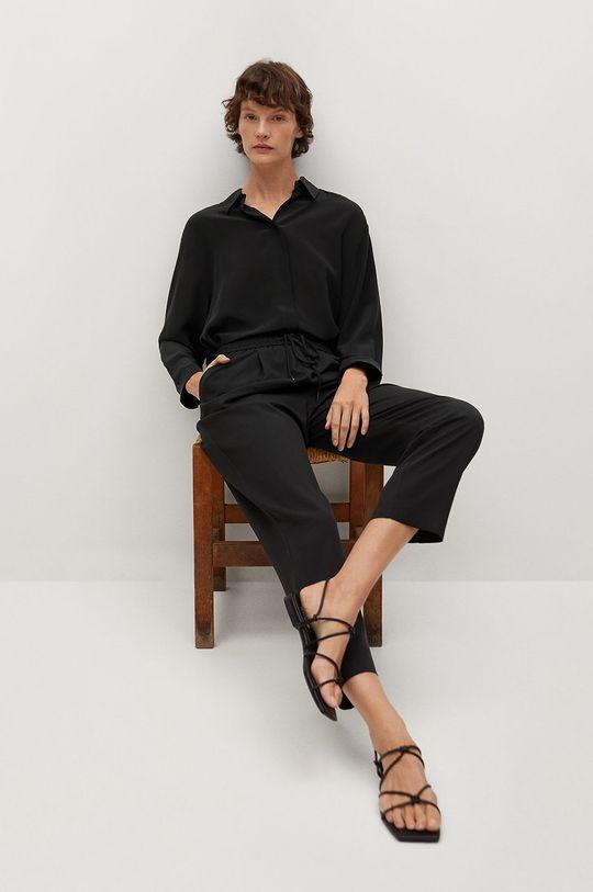 černá Mango - Kalhoty FLUIDO