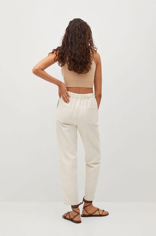 Mango - Nohavice SPRING  Podšívka: 35% Bavlna, 65% Polyester Základná látka: 100% Bavlna
