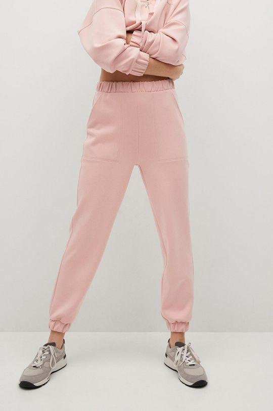 różowy Mango - Spodnie MONICA Damski