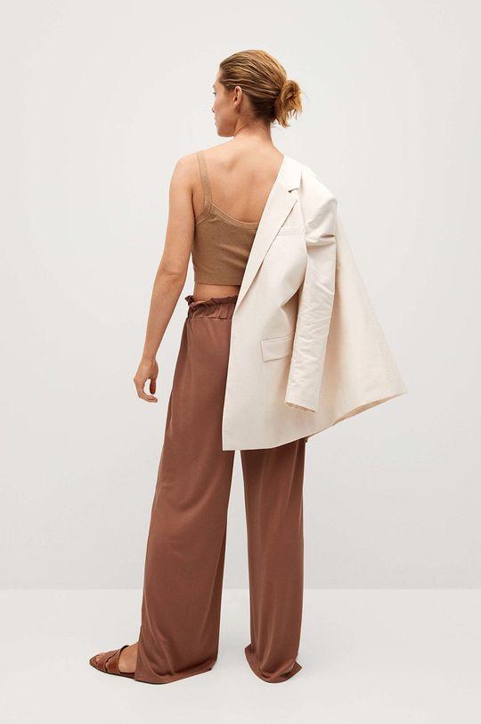 Mango - Kalhoty Goli  64% Modal, 36% Polyester