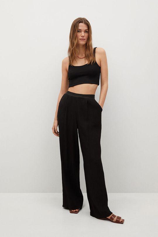 černá Mango - Kalhoty SPORTY
