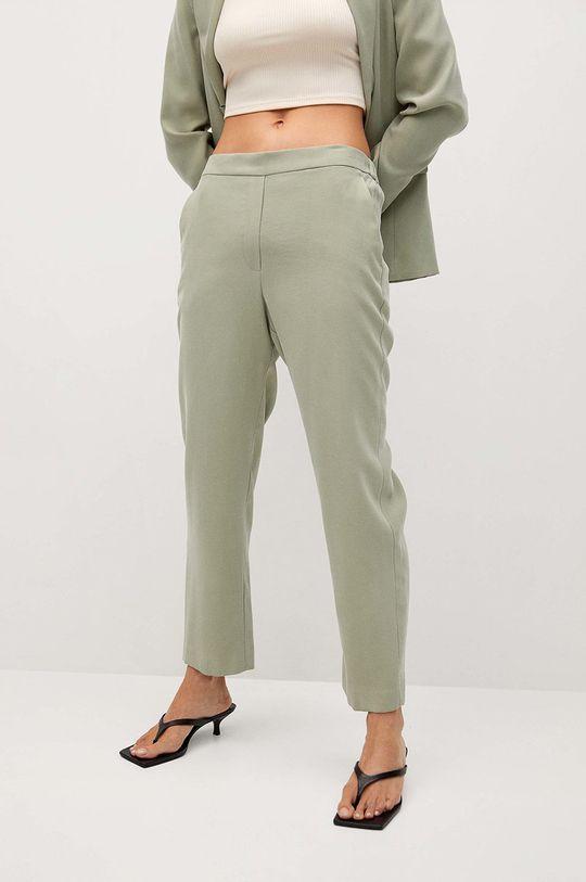 zielony Mango - Spodnie TEMPO Damski
