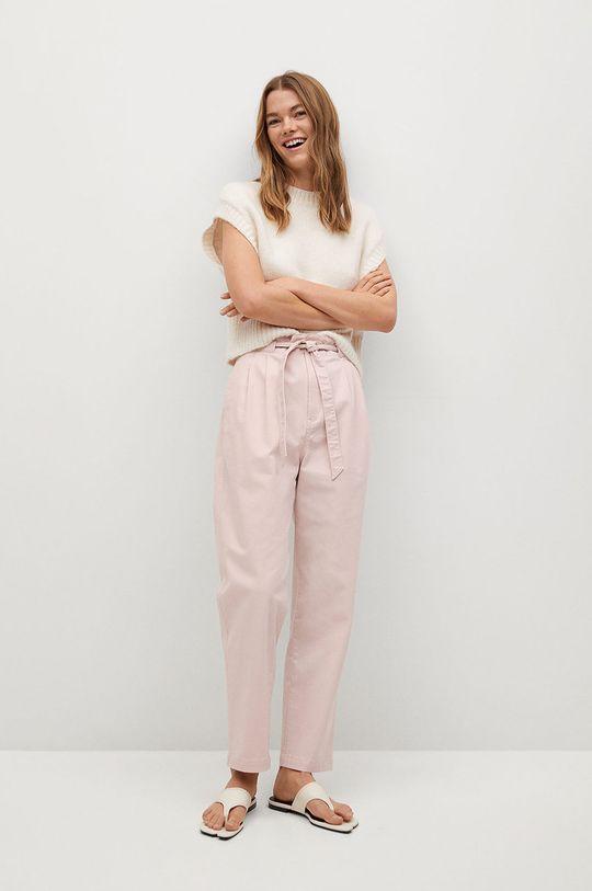 Mango - Kalhoty Slow růžová