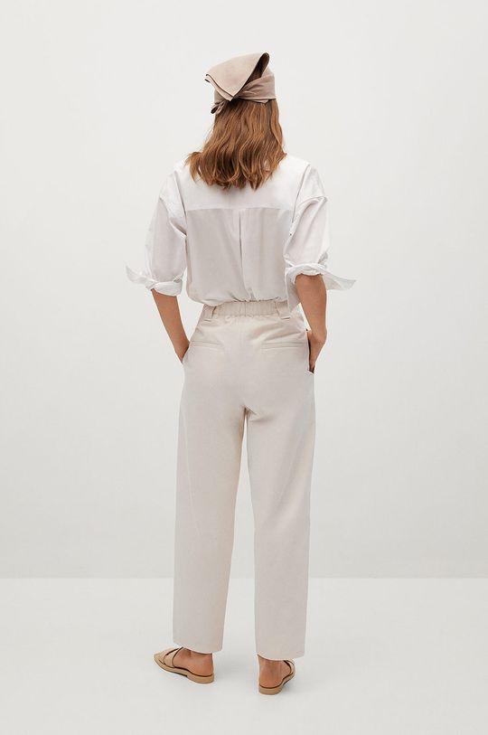 Mango - Kalhoty Mint  Hlavní materiál: 100% Bavlna Podšívka kapsy: 20% Bavlna, 80% Polyester