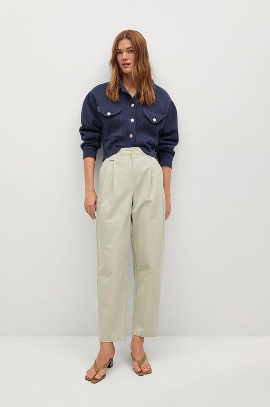 Mango - Kalhoty Mint tyrkysová