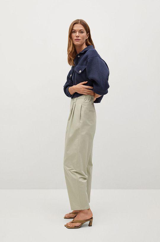 tyrkysová Mango - Kalhoty Mint