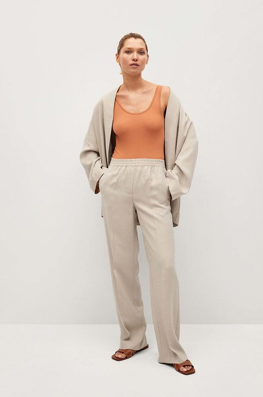 Mango - Kalhoty Kimo béžová