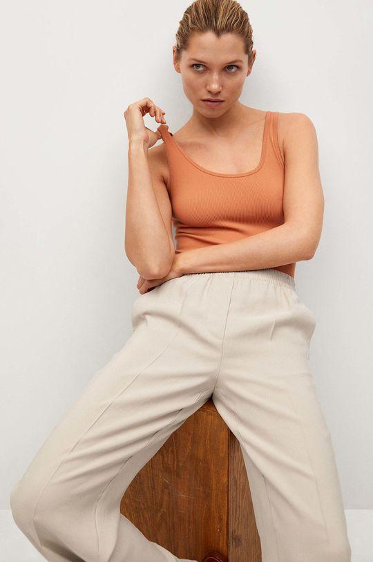 béžová Mango - Kalhoty Kimo
