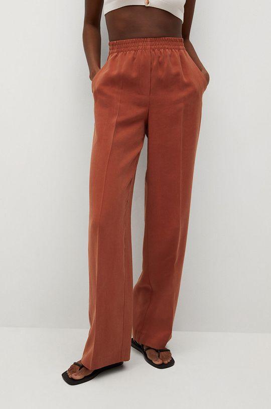 pomarańczowy Mango - Spodnie Kimo Damski
