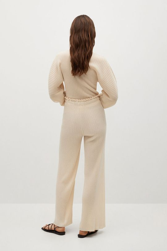 Mango - Kalhoty PLIE  25% Polyester, 75% Viskóza