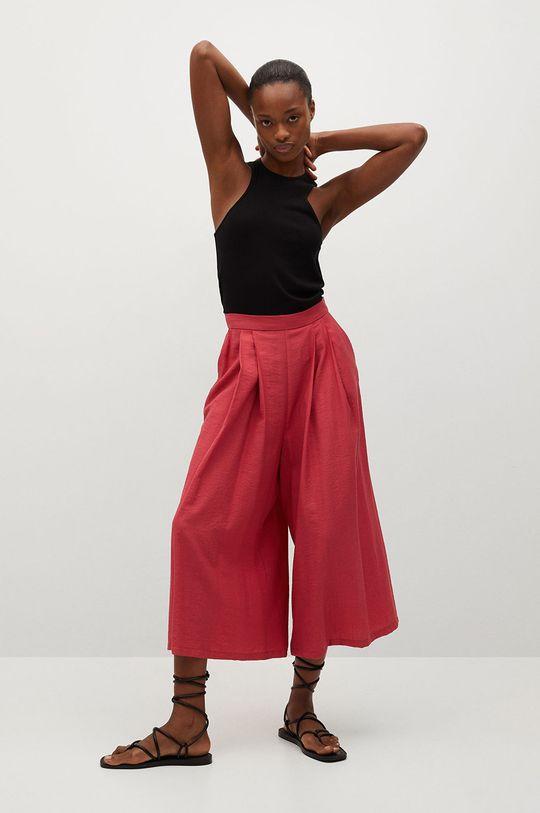 Mango - Kalhoty Vera červená