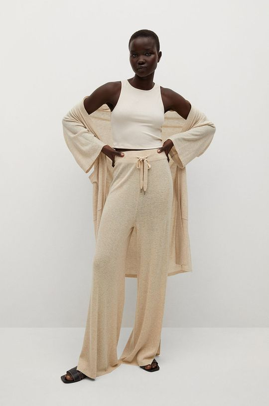 Mango - Kalhoty TOBIAS světle šedá