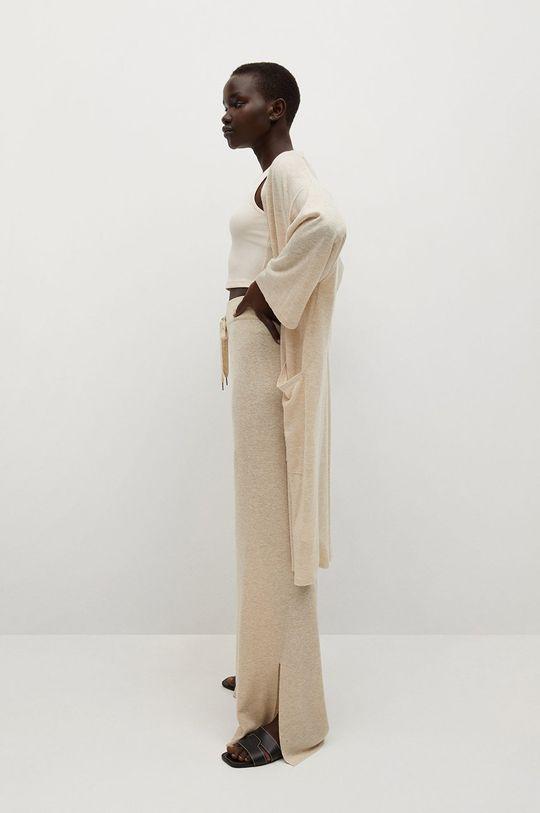 světle šedá Mango - Kalhoty TOBIAS