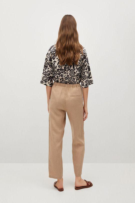 Mango - Spodnie Linen Podszewka: 35 % Bawełna, 65 % Poliester, Materiał zasadniczy: 100 % Len