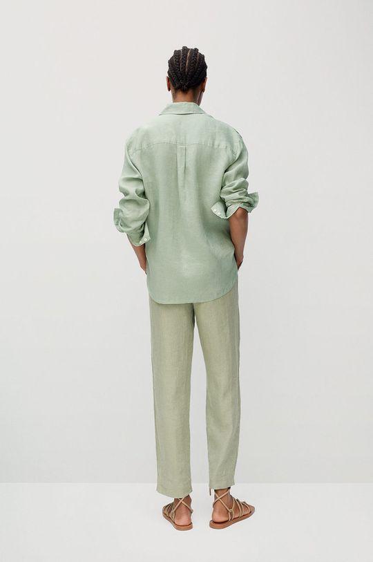 Mango - Nohavice Linen  Podšívka: 35% Bavlna, 65% Polyester Základná látka: 100% Ľan