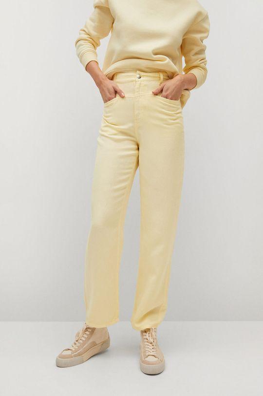 žlutá Mango - Kalhoty SKY Dámský