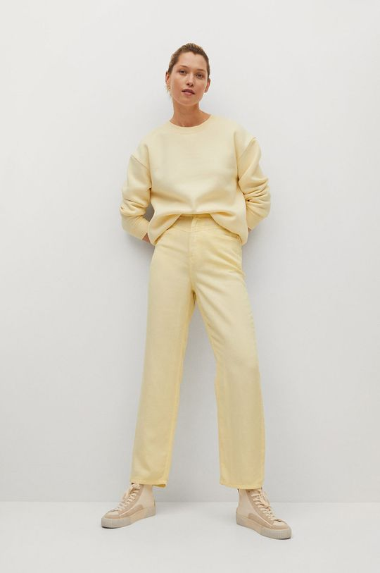 Mango - Kalhoty SKY žlutá
