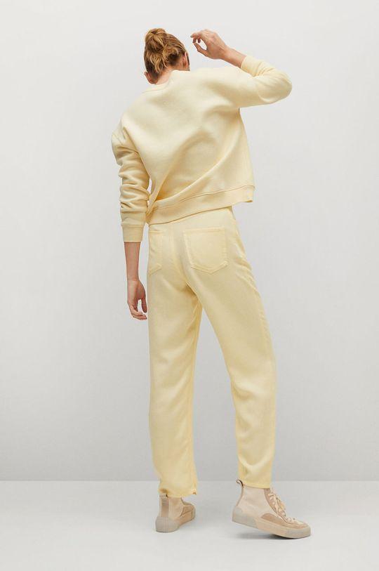 Mango - Kalhoty SKY  43% Len, 57% Lyocell