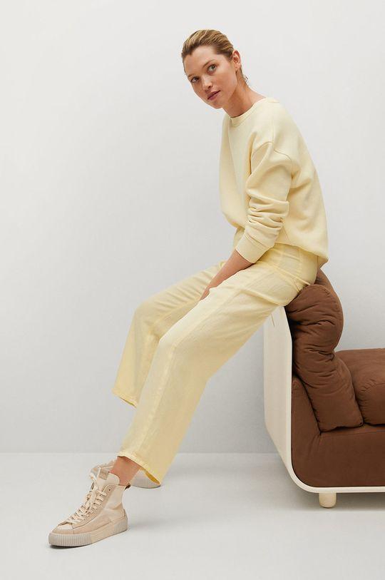 žlutá Mango - Kalhoty SKY
