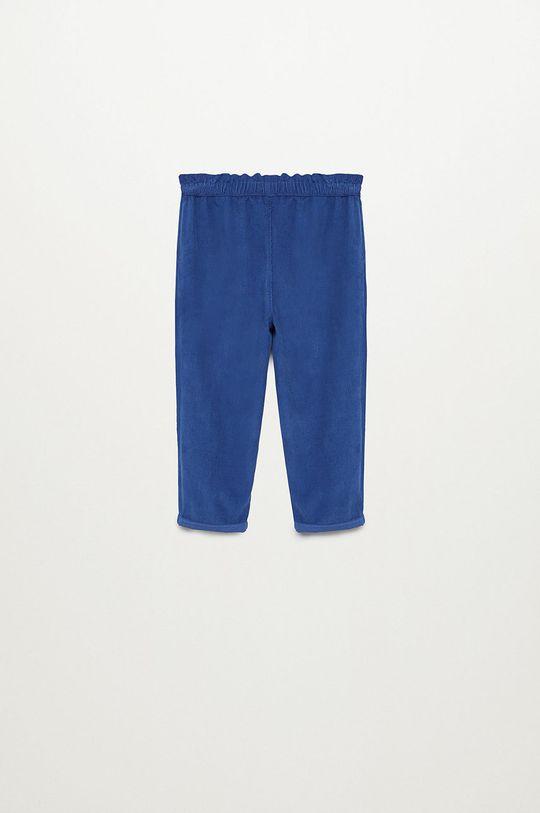 Mango Kids - Spodnie dziecięce PLIN niebieski