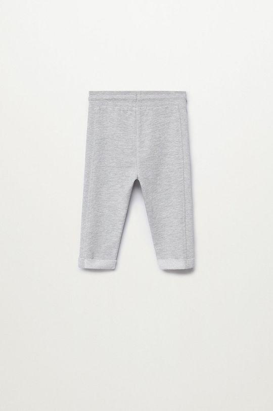 Mango Kids - Pantaloni copii MIRES7 gri
