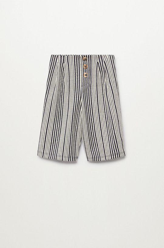 modrá Mango Kids - Dětské kalhoty SIRA Dívčí