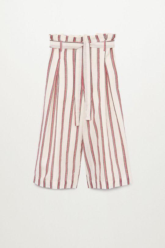 biały Mango Kids - Spodnie dziecięce Indi 116-164 cm Dziewczęcy