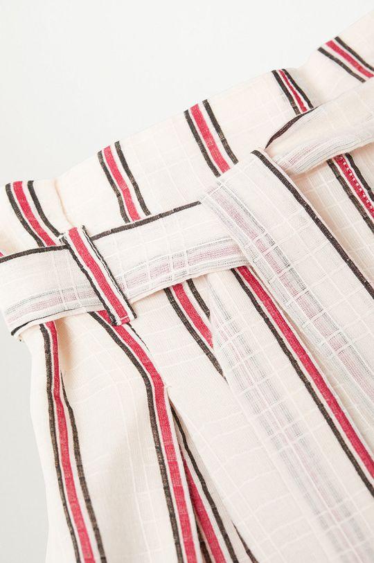 Mango Kids - Spodnie dziecięce Indi 116-164 cm biały