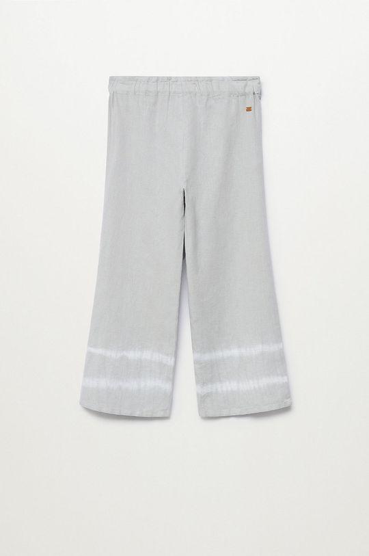 Mango Kids - Spodnie dziecięce IRIS jasny szary