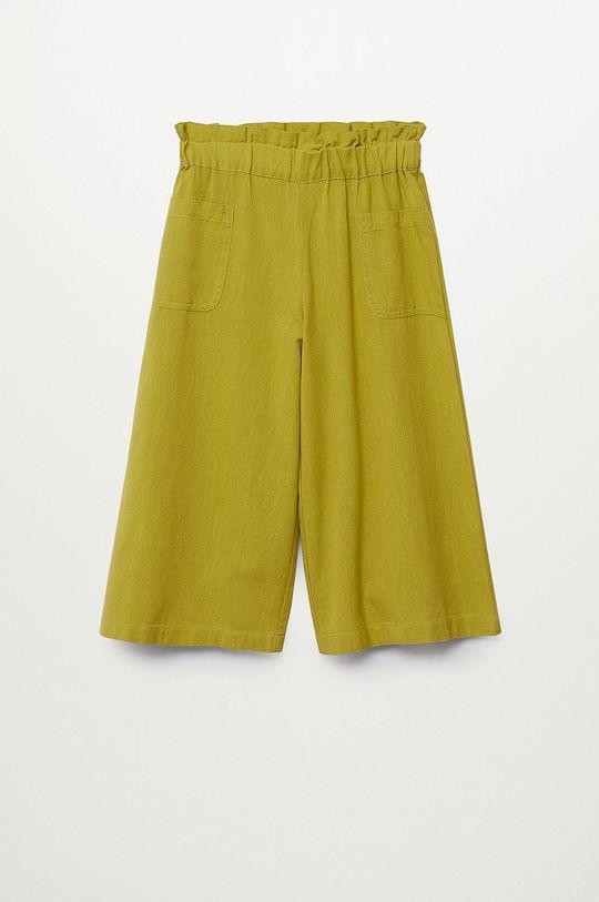 żółty Mango Kids - Spodnie dziecięce Harper 116-164 cm Dziewczęcy