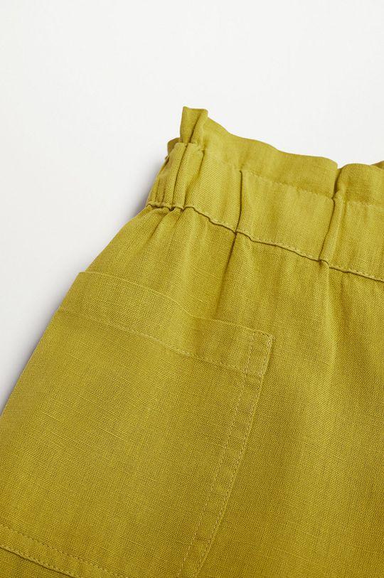 Mango Kids - Spodnie dziecięce Harper 116-164 cm 88 % Bawełna, 12 % Len