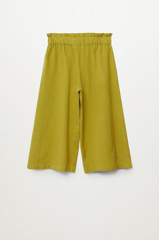 żółty Mango Kids - Spodnie dziecięce Harper 116-164 cm