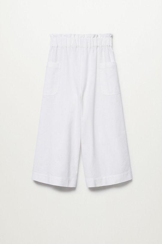 Mango Kids - Spodnie dziecięce Nayara 110-164 cm biały
