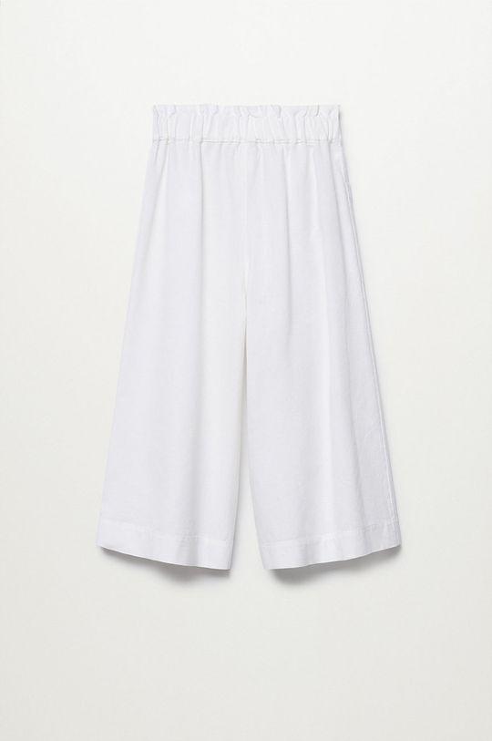 Mango Kids - Spodnie dziecięce Nayara 110-164 cm 88 % Bawełna, 12 % Len