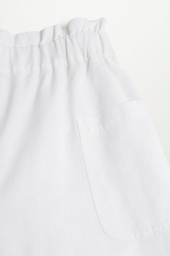biały Mango Kids - Spodnie dziecięce Nayara 110-164 cm
