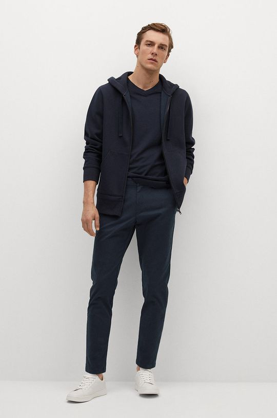 Mango Man - Kalhoty PRATO námořnická modř