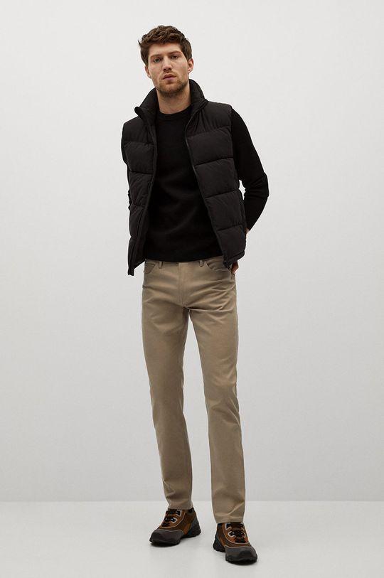 Mango Man - Pantaloni PISA culoarea tenului