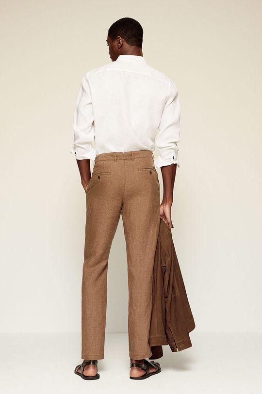 Mango Man - Spodnie OYSTER Materiał zasadniczy: 100 % Len, Podszewka kieszeni: 100 % Bawełna