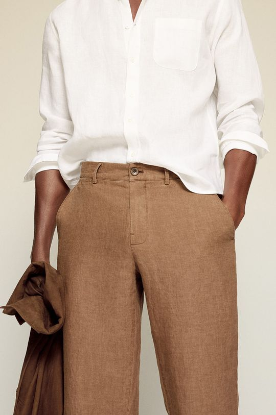 piaskowy Mango Man - Spodnie OYSTER