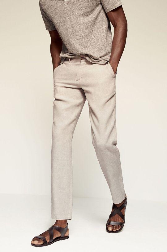 béžová Mango Man - Kalhoty OYSTER Pánský