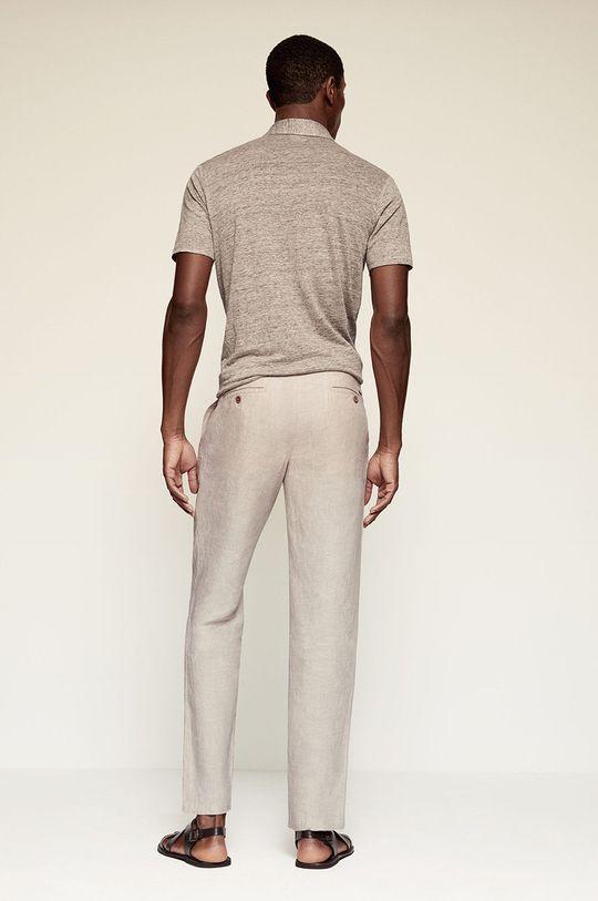 Mango Man - Kalhoty OYSTER  Hlavní materiál: 100% Len Podšívka kapsy: 100% Bavlna
