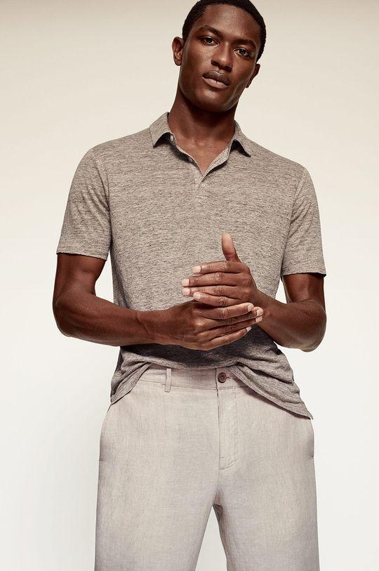 béžová Mango Man - Kalhoty OYSTER