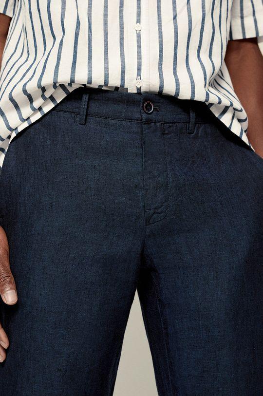 granatowy Mango Man - Spodnie OYSTER