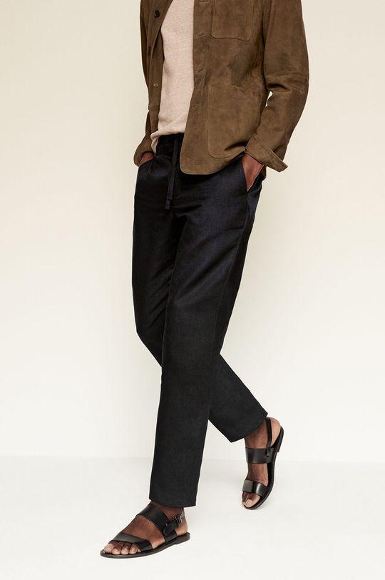 negru Mango Man - Pantaloni Flak De bărbați
