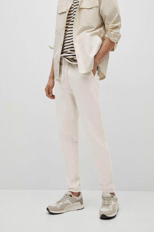 biały Mango Man - Spodnie Fait-I Męski