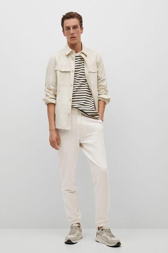 Mango Man - Spodnie Fait-I biały