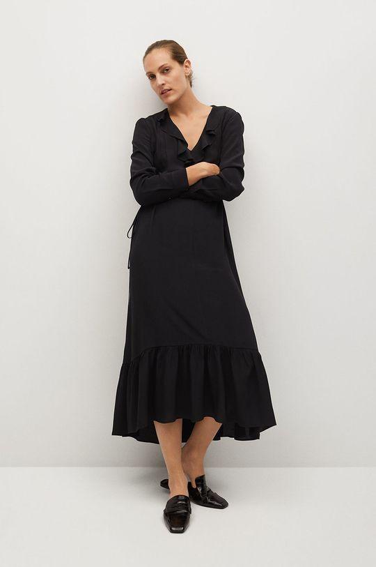 czarny Mango - Sukienka NOIR Damski
