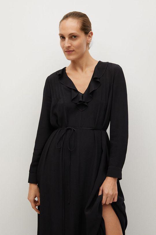 czarny Mango - Sukienka NOIR