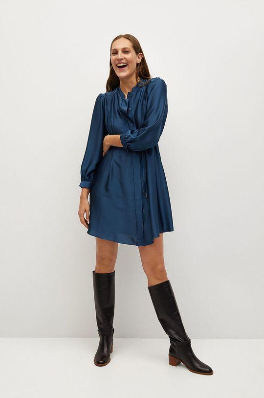 modrá Mango - Šaty ALBANI Dámsky